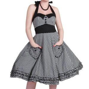 Hell Bunny Gingham Halter 50s Dress